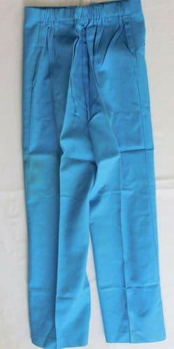 Vintage 1960s blue twill slacks Age 12 UNUSED Ladybird girls trousers IMPERFECT